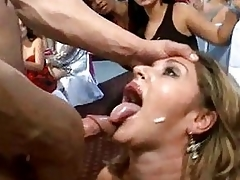 Blistering woman is waiting for cum