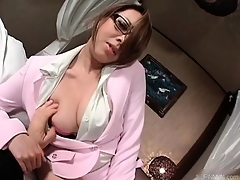 Gorgeous asian milf takes not present his pants part6