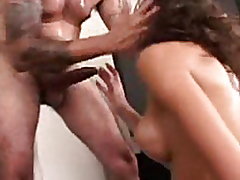 Shoves his pecker in her sexy throat