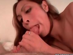 Scruffy blowjob from cocksucker almost aphoristic tits