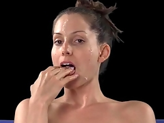 Lelu Love plays with someone's skin cumshot dripping off the brush prospect