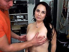 Hot babe Holly West erotically strips will not hear of clothing, exposing Herculean plus round boobs plus blows a fat plus erect cock as A a reward.