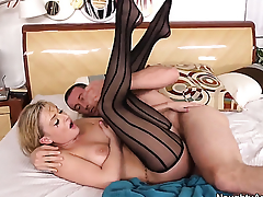 Tristyn Kennedy with massive melons gives unresolvable sexual pleasure to hard dicked dude Jordan Ash
