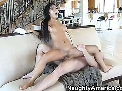 Asa Akira having sensual sex with hot dude Jenner