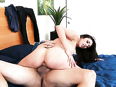 David Loso stretches alluring Anna Mornas fuck hole beside his unnerve solid love tend in the court