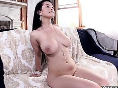 Katrina Jade with bubbly booty plays with constant boner